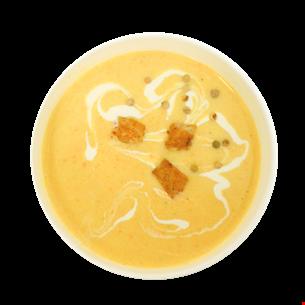 Supă cremă pui cu usturoi copt